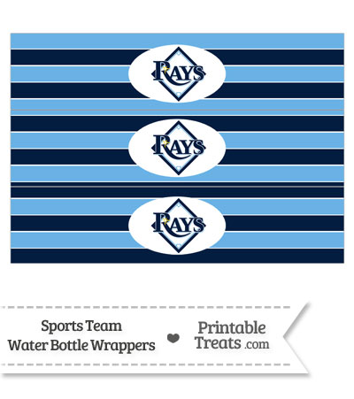 Tampa Bay Rays Water Bottle Wrappers from PrintableTreats.com