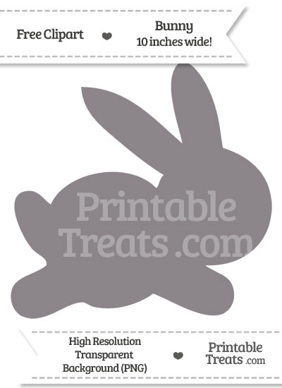 Taupe Grey Bunny Clipart from PrintableTreats.com