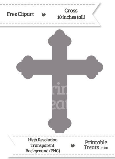Taupe Grey Cross Clipart from PrintableTreats.com