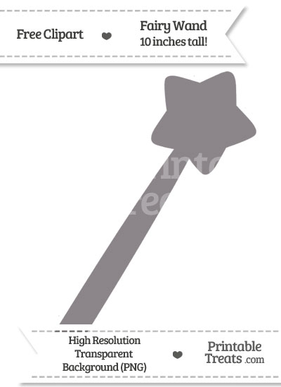 Taupe Grey Fairy Wand Clipart from PrintableTreats.com