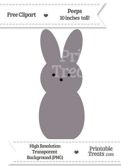 Taupe Grey Peeps Clipart from PrintableTreats.com