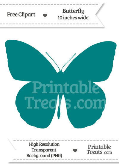Teal Butterfly Clipart from PrintableTreats.com