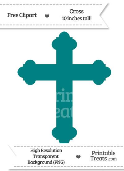 Teal Cross Clipart from PrintableTreats.com