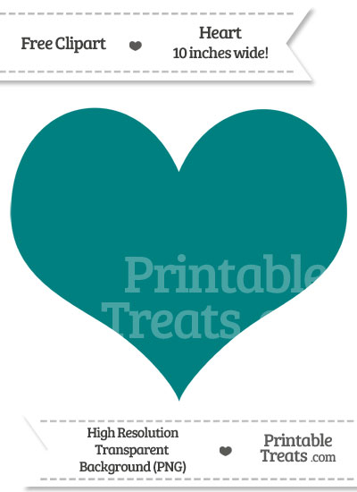 Teal Heart Clipart from PrintableTreats.com