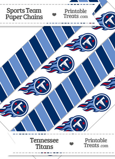 Tennessee Titans Paper Chains from PrintableTreats.com