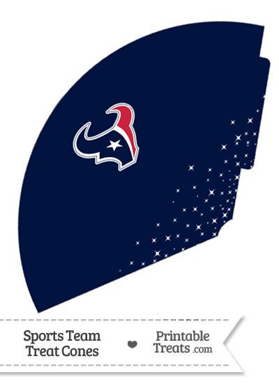 Texans Treat Cone Printable from PrintableTreats.com