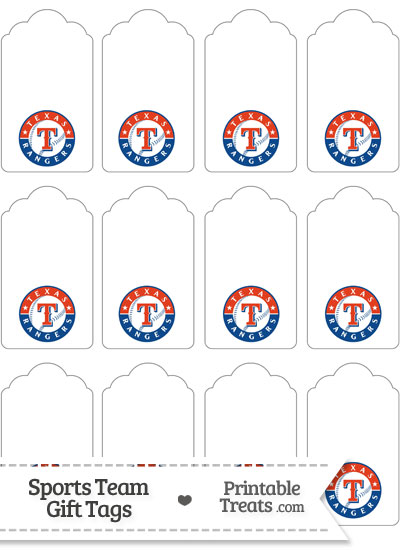Texas Rangers Gift Tags from PrintableTreats.com