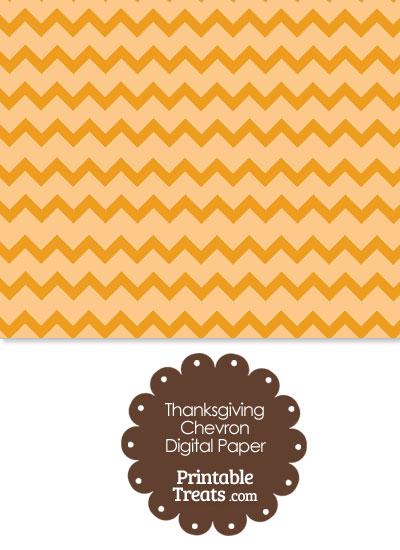 Thanksgiving Chevron Digital Scrapbook Paper from PrintableTreats.com