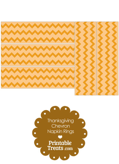Thanksgiving Chevron Napkin Rings from PrintableTreats.com