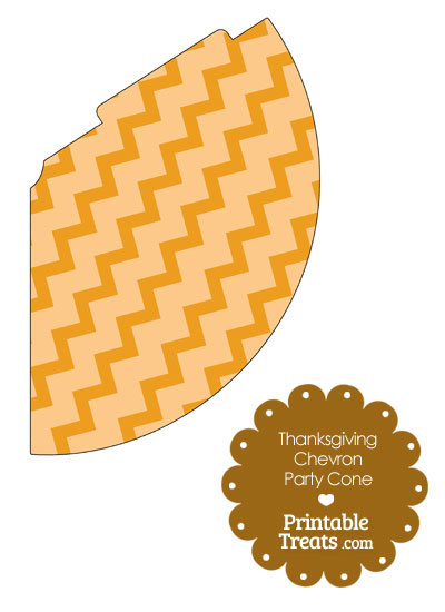 Thanksgiving Chevron Party Cone from PrintableTreats.com
