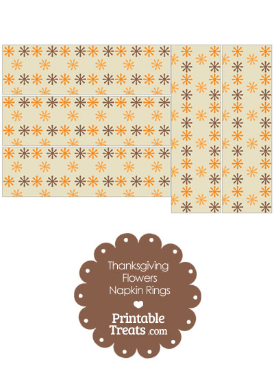 Thanksgiving Flowers Napkin Rings from PrintableTreats.com