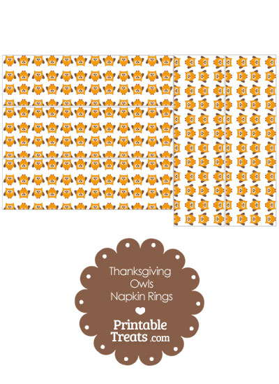 Thanksgiving Owls Napkin Rings from PrintableTreats.com