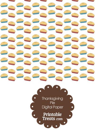 Thanksgiving Pies Digital Scrapbook Paper from PrintableTreats.com