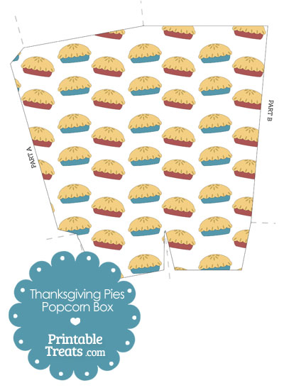Thanksgiving Pies Popcorn Box from PrintableTreats.com