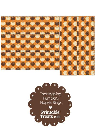 Thanksgiving Pumpkins Napkin Rings from PrintableTreats.com