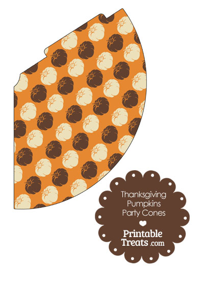 Thanksgiving Pumpkins Party Cone from PrintableTreats.com