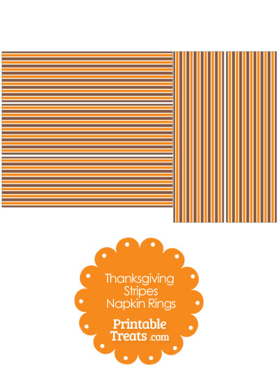 Thanksgiving Stripes Napkin Rings from PrintableTreats.com
