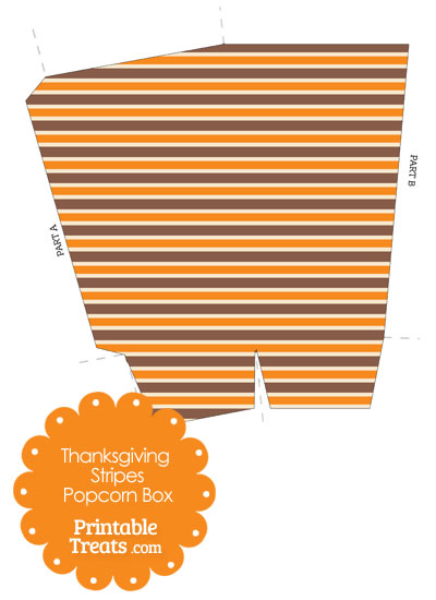 Thanksgiving Stripes Popcorn Box from PrintableTreats.com