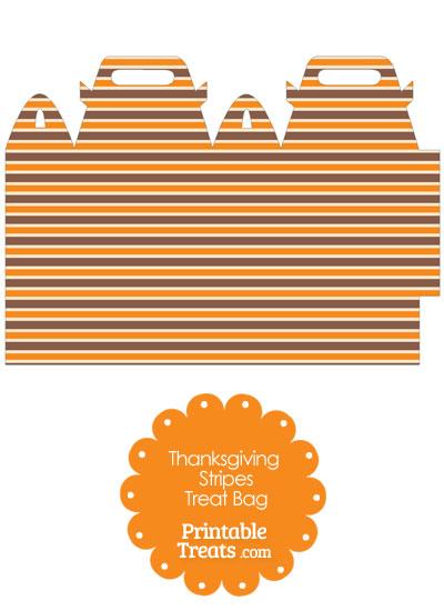 Thanksgiving Stripes Treat Bag from PrintableTreats.com