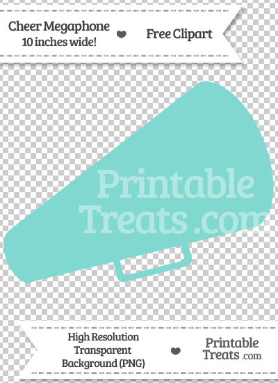 Tiffany Blue Cheer Megaphone Clipart from PrintableTreats.com