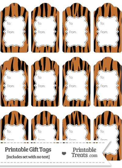 Tiger Print Gift Tags from PrintableTreats.com
