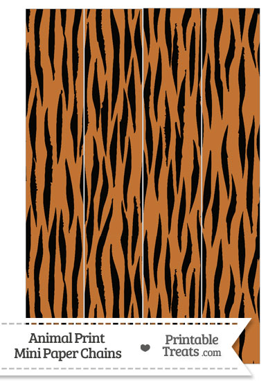 Tiger Print Paper Chains from PrintableTreats.com