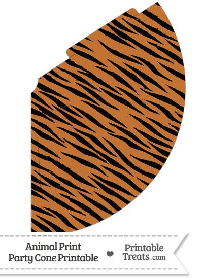 Tiger Print Party Cone from PrintableTreats.com