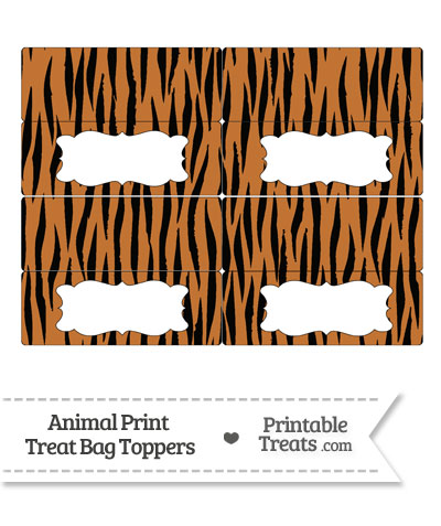 Tiger Print Treat Bag Toppers from PrintableTreats.com