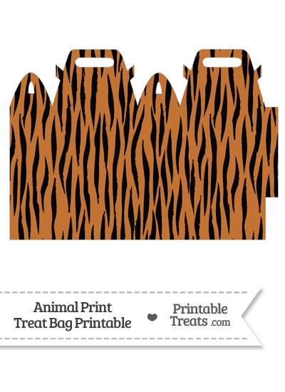 Tiger Print Treat Bag from PrintableTreats.com