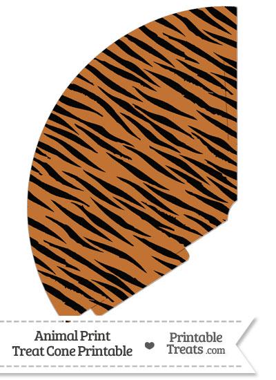 Tiger Print Treat Cone from PrintableTreats.com