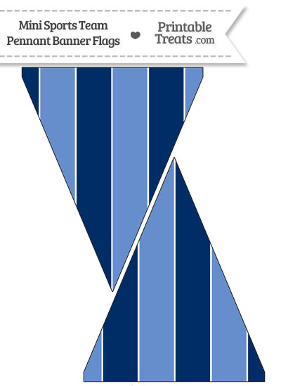 Titans Colors Mini Pennant Banner Flags from PrintableTreats.com