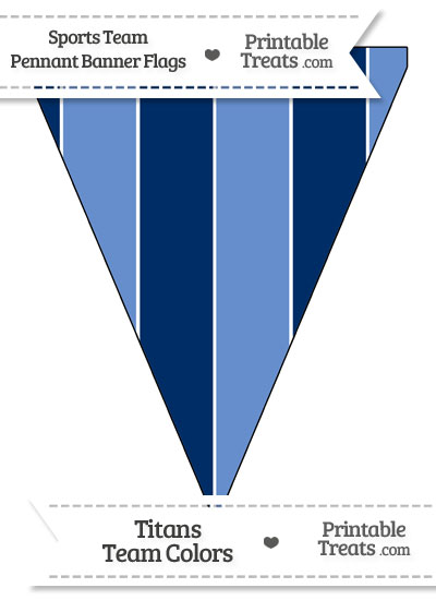 Titans Colors Pennant Banner Flag from PrintableTreats.com