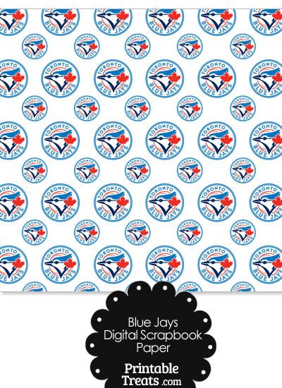 Toronto Blue Jays Baseball Digital Paper from PrintableTreats.com
