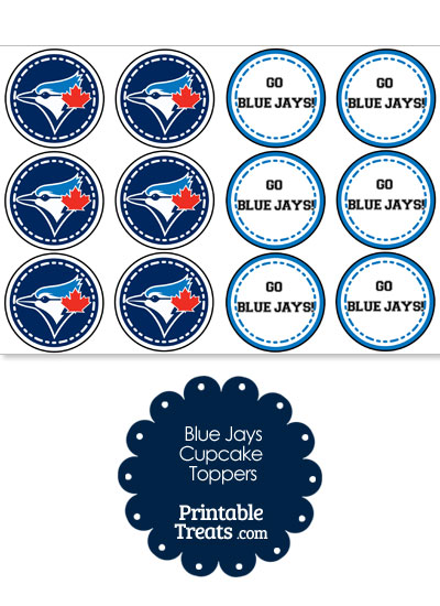 Toronto Blue Jays Cupcake Toppers from PrintableTreats.com