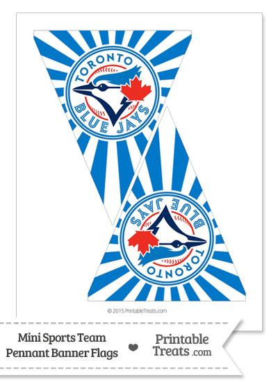 Toronto Blue Jays Mini Pennant Banner Flags from PrintableTreats.com