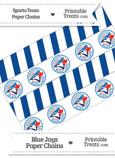 Toronto Blue Jays Paper Chains from PrintableTreats.com
