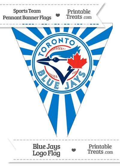 Toronto Blue Jays Pennant Banner Flag from PrintableTreats.com