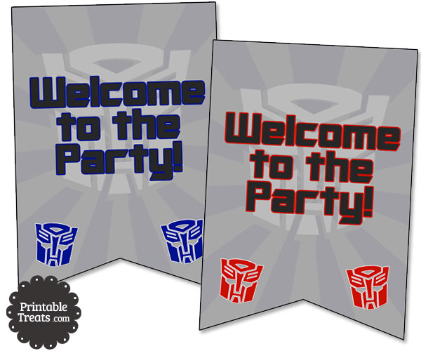 transformers party welcome sign
