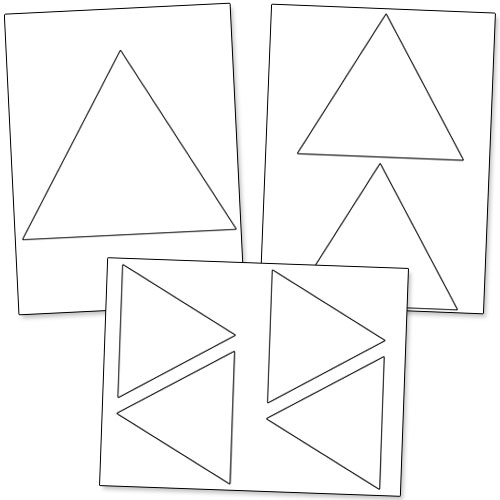triangle shape printable
