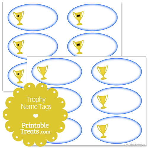 trophy name tags