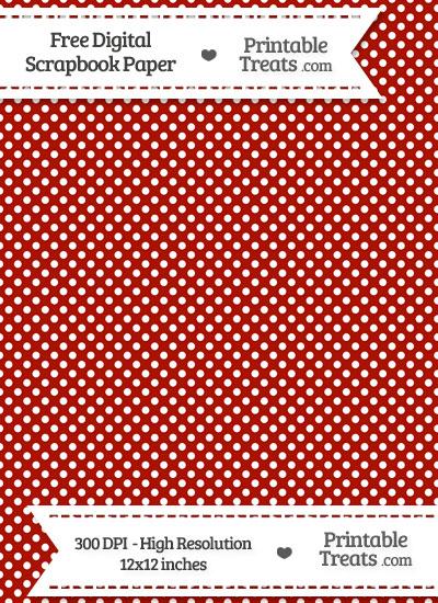 Turkey Red Raised Mini Polka Dots Digital Paper from PrintableTreats.com