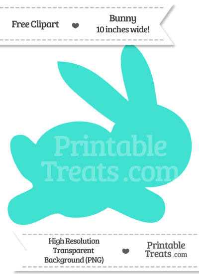 Turquoise Bunny Clipart from PrintableTreats.com