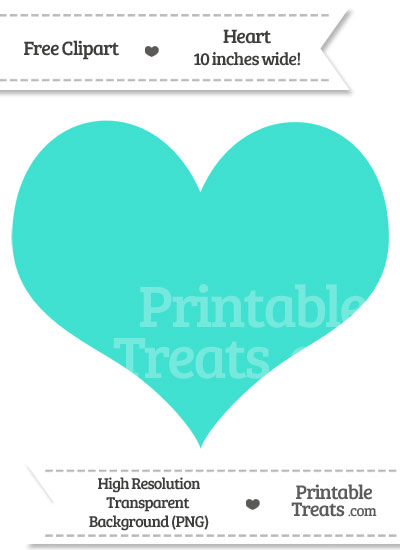 Turquoise Heart Clipart from PrintableTreats.com