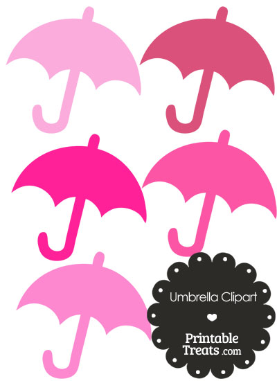 Umbrella Clipart in Shades of Pink from PrintableTreats.com