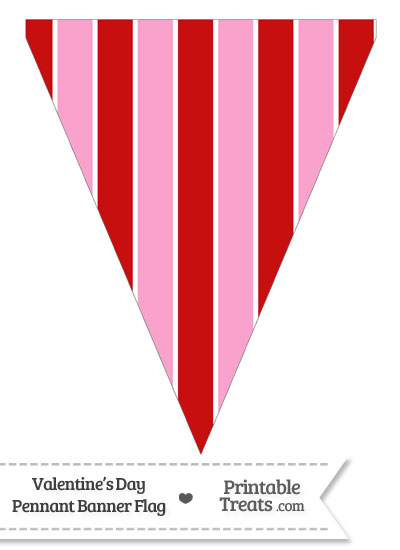 Valentines Day Pennant Banner Flag from PrintableTreats.com