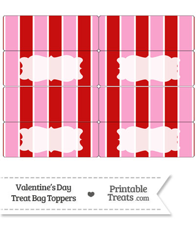 Valentines Day Treat Bag Toppers from PrintableTreats.com