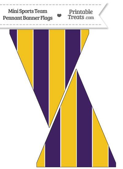 Vikings Colors Mini Pennant Banner Flags from PrintableTreats.com