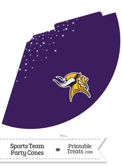 Vikings Party Cone Printable from PrintableTreats.com