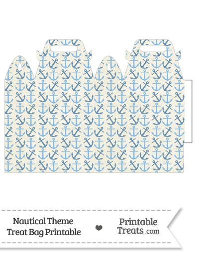 Vintage Blue Anchors Treat Bag from PrintableTreats.com
