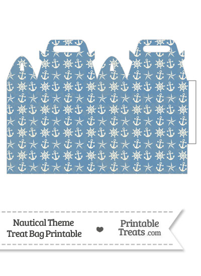 Vintage Blue Nautical Treat Bag from PrintableTreats.com